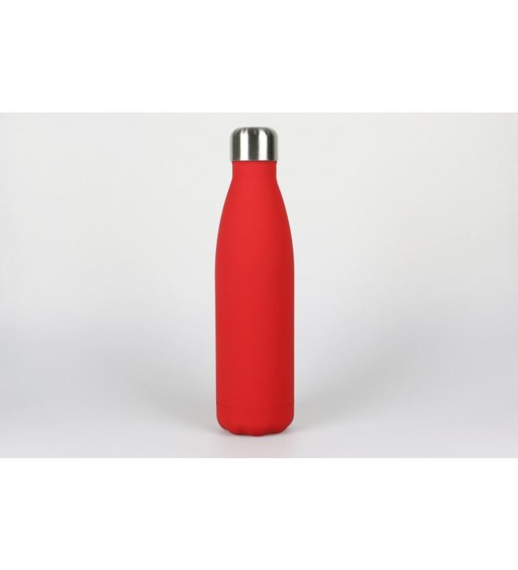 botella laserable  roja 500 ml.