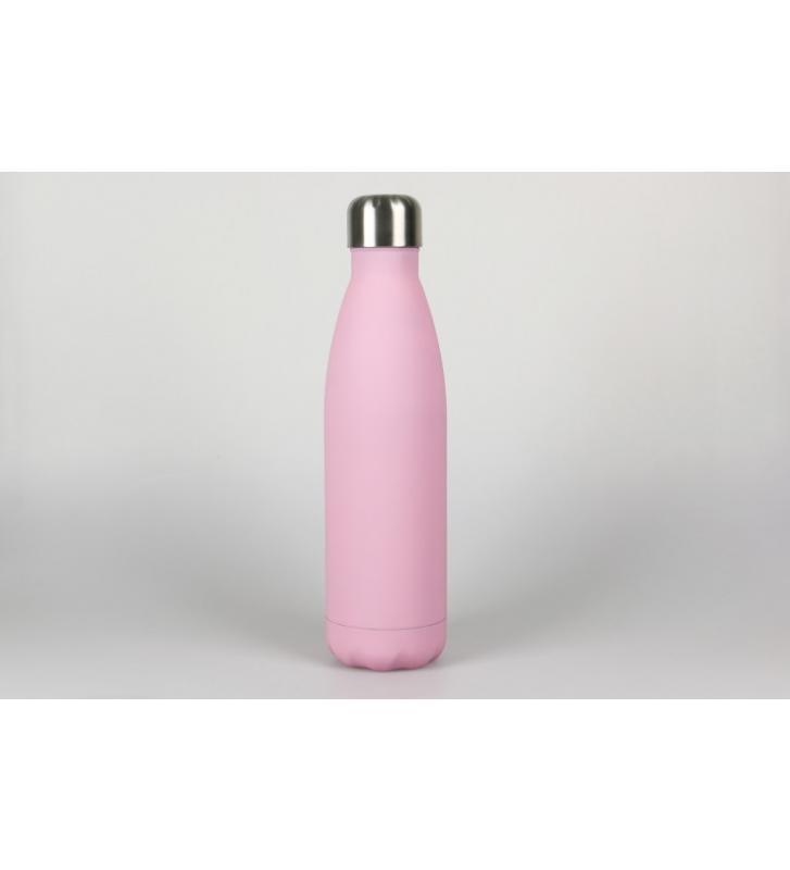 Botella laserable rosa 500ml.