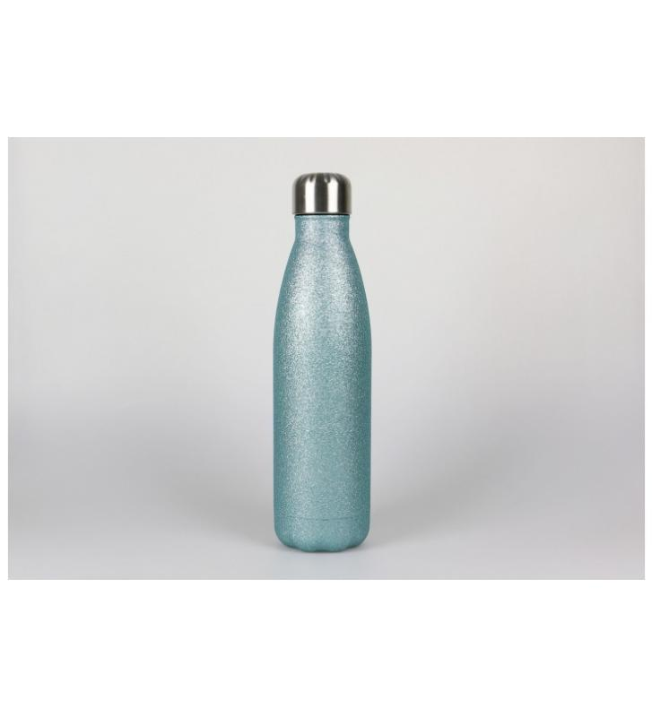 botella laserable verde menta purpurina 500ml