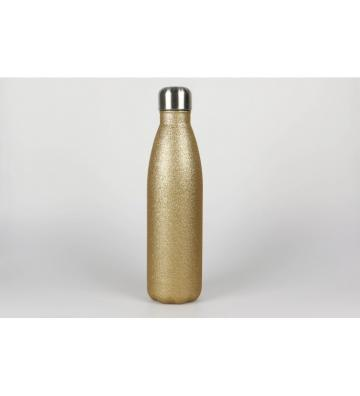 Botella laserable oro purpurina 500ml